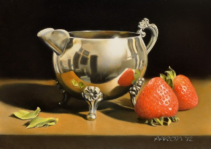 Strawberries and Silver painting