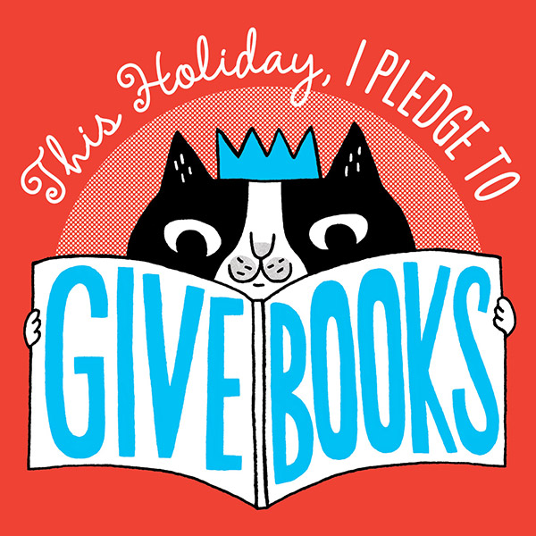 Give Books Pledge logo